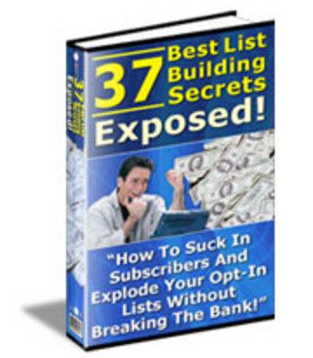 Product picture 37 Best List Building Secrets