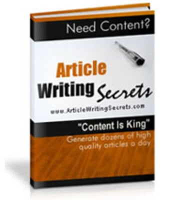 Product picture Article Writing Secrets